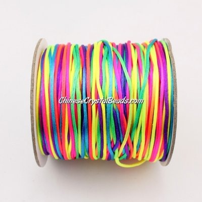 1.5mm Satin Rattail Cord thread, #06, Colorful, 80Yard spool
