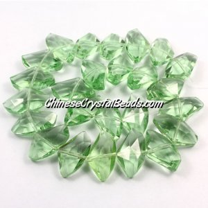 Chinese Crystal galactic Pendant, lime green, 14x24mm, 10pcs