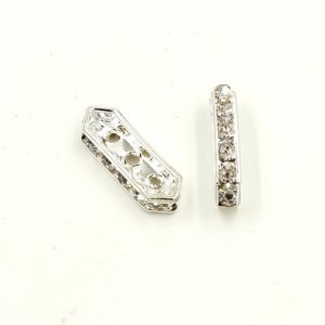 50pcs rhombus crystal spacer beads, 5x16mm, 3 hole