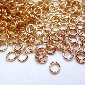 Open Jump Rings Connector, rose gold plated, 5mm, 6mm, 7mm, 8mm, 10mm jewelry findings DIY