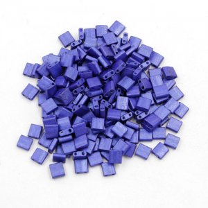Chinese 5mm Tila Square Bead, opaque blue, about 100Pcs