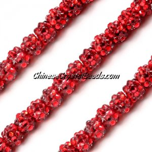 Chinese Crystal Disco Bead Acrylic red 8mm(inside), 30 beads
