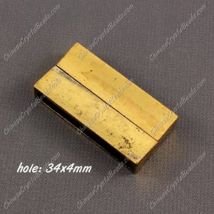 Big strong Magnetic Clasps, 6x19x38mm, Old Gold plated Brass, sold 1 piece
