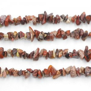 Rainbow Brecciated Jasper chip, Gemstone Chips, 5mm to 10mm, Hole:1mm, Length:Approx 35 Inch