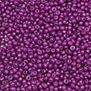 1.8mm AAA round seed beads 13/0, purple, approx. 30 gram bag