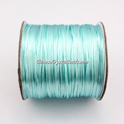 1.5mm Satin Rattail Cord thread, #15, aqua, 80Yard spool