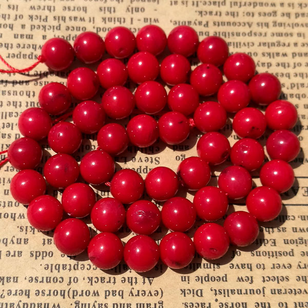 Natural Round Coral Beads, red, 6mm, 8mm, 10mm, Hole:Approx 1mm, Length:15 Inch