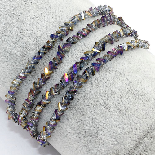 Triangle Crystal Beads, 4mm, 6mm, purple light