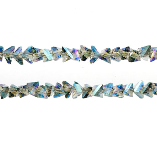 Triangle Crystal Beads, 4mm 6mm, Transparent green light