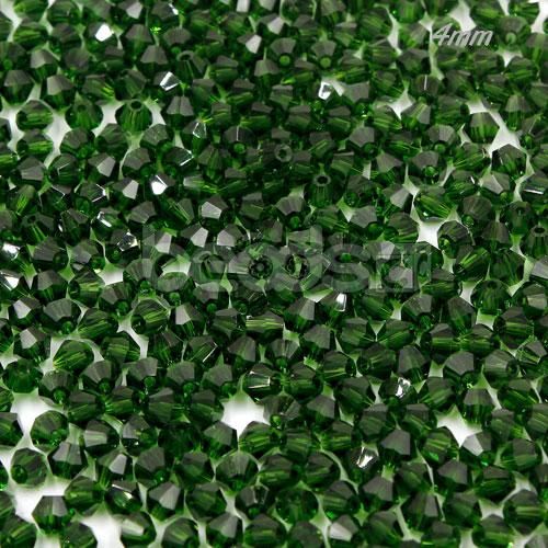 700pcs Chinese Crystal 4mm Bicone Beads, dark green, AAA quality