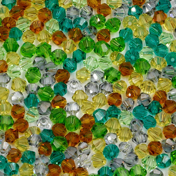 AAA 4mm mix bicone crystal beads, Bag of 50, Mountain