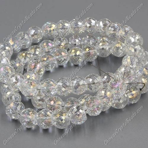 12pcs Rondelle Drum Faceted Crystal Beads,9x12mm, hole:1.5mm, clear AB
