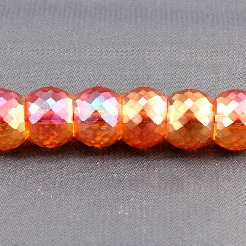 12pcs Rondelle Drum Faceted Crystal Beads,9x12mm, hole:1.5mm, orange light 2