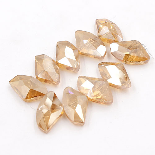 Chinese Crystal galactic Pendant, golden shadow, 14x24mm, 10pcs