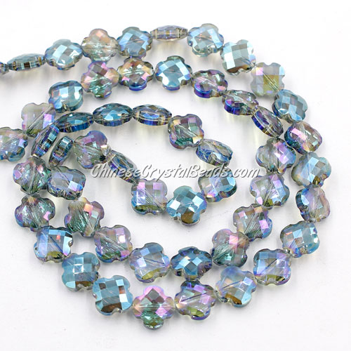 11x11mm Crystal faceted lantern beads, green light, 20Pcs