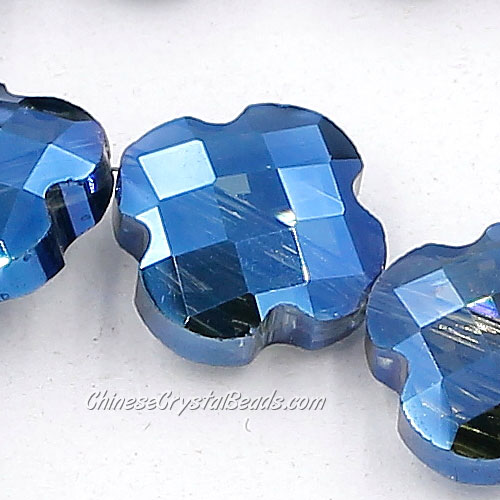 11x11mm Crystal faceted lantern beads, magic blue, 20Pcs