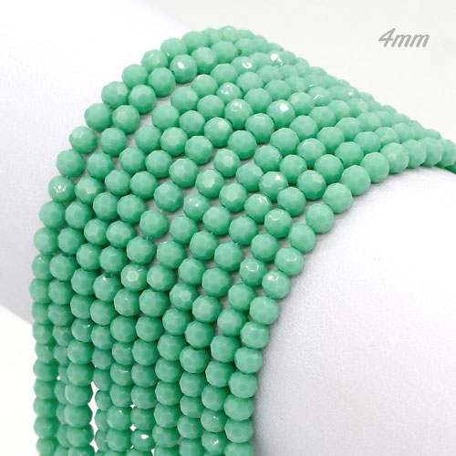 Crystal round bead strand, 4mm, opaque #126, about 100pcs