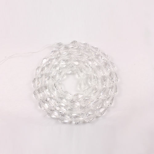 70Pcs 5x8mm Chinese Crystal Teardrop Beads, clear