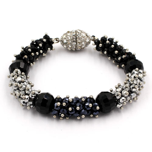 "Magnetic Clasps crystal hiphop bracelet kits , 6.5-8"" length"