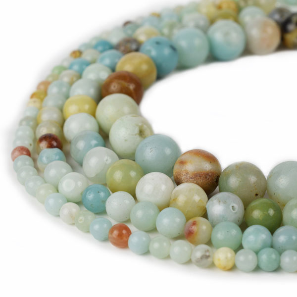 Natural Amazonite Beads 4mm 6mm 8mm 10mm 12mm Round Sold Per Approx 15 Inch Strand