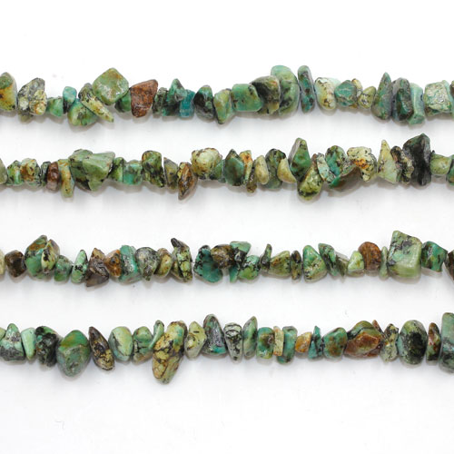 African turquoise Gemstone Chips, 5mm-10mm, Hole:Approx 0.8mm, Length:Approx 30 Inch