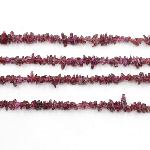 Small garnet Gemstone Chips, 1mm-5mm, Hole:Approx 0.8mm, Length:Approx 35 Inch