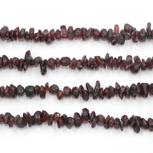 Garnet Nuggets Gemstone Chips, 2mm to 5mm, Hole:Approx 0.8mm, Length:Approx 35 Inch