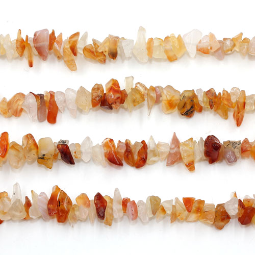 Red Agate Chip, Gemstone Chips, 2mm to 10mm, Hole:1mm, Length:Approx 35 Inch