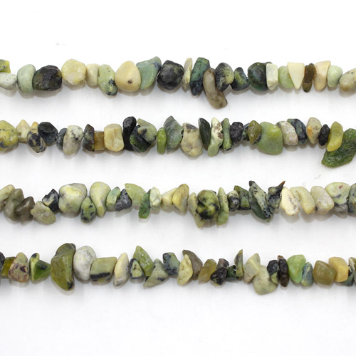 Gemstone Chips, Turquoise Gemstone, 5mm-10mm, Hole:Approx 0.8mm, Length:Approx 30 Inch