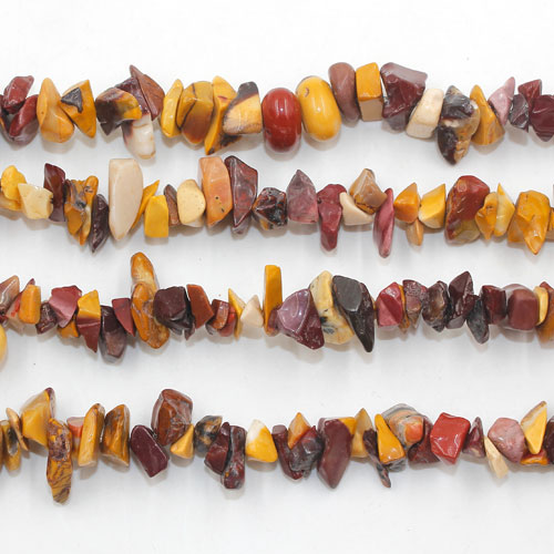 Yolk Stone chip beads Gemstone Chips, 2mm to 10mm, Hole:Approx 0.8mm, Length:Approx 30 Inch