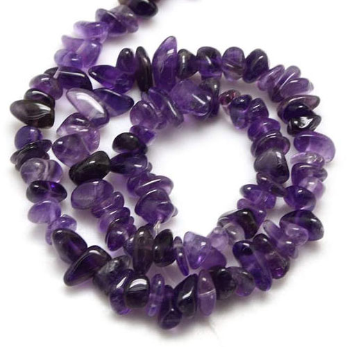 Amethyst chip Gemstone Chips, 5mm to 10mm, Hole:1mm, Length:Approx 35 Inch