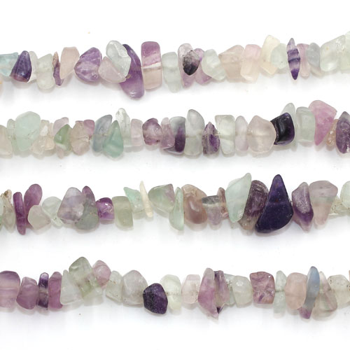 Fluorite Chip, Gemstone Chips,  4mm to 10mm, Hole:1mm, Length:Approx 35 Inch