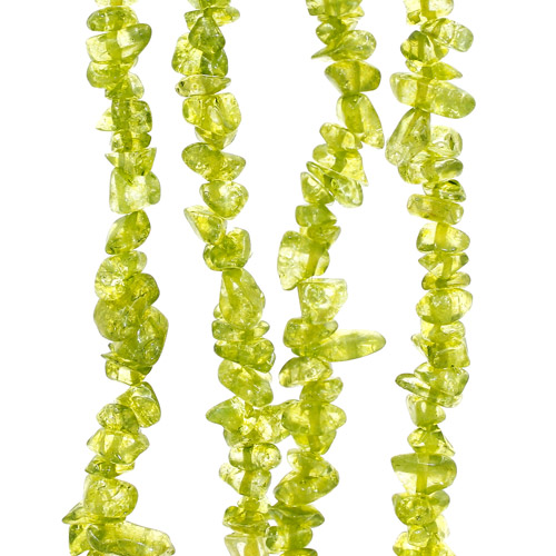 Gemstone Chips, dyeing crackle Crystal, Olive, 5mm-10mm, Hole:Approx 0.8mm, Length:Approx 15 Inch