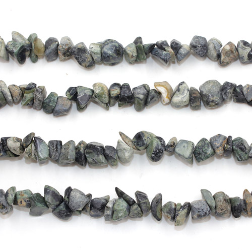 Gemstone Chips, green eyes Gemstone, 5mm-10mm, Hole:Approx 0.8mm, Length:Approx 30 Inch