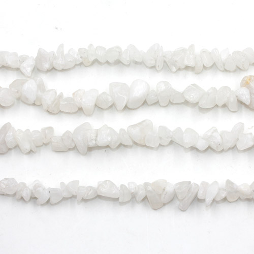 Gemstone Chips, white jade Gemstone, 5mm-10mm, Hole:Approx 0.8mm, Length:Approx 30 Inch