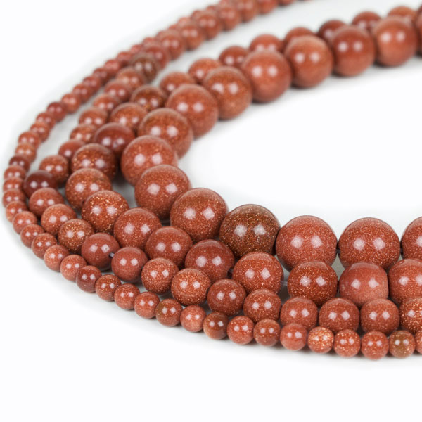 Gold Sandstone Beads, Natural Round Wholesale 4mm 6mm 8mm 10mm 12mm 14mm Full 15Inch Strand