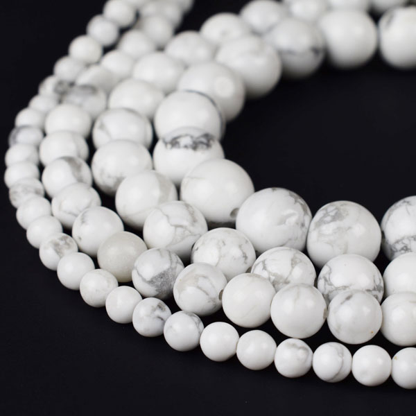 Natural Howlite Beads 4mm 6mm 8mm 10mm 12mm Round Sold Per Approx 15 Inch Strand