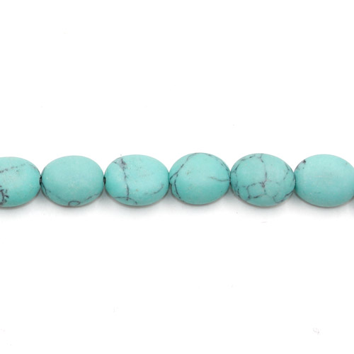 "5x8x10mm Oval Turquoise Gemstone, hole:1mm, 15""/strand, 38PCs/Strand"