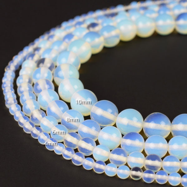 Sea Opal Opalite Beads 4mm 6mm 8mm 10mm 12mm 14mm 16mm Round about 14.5 Inch