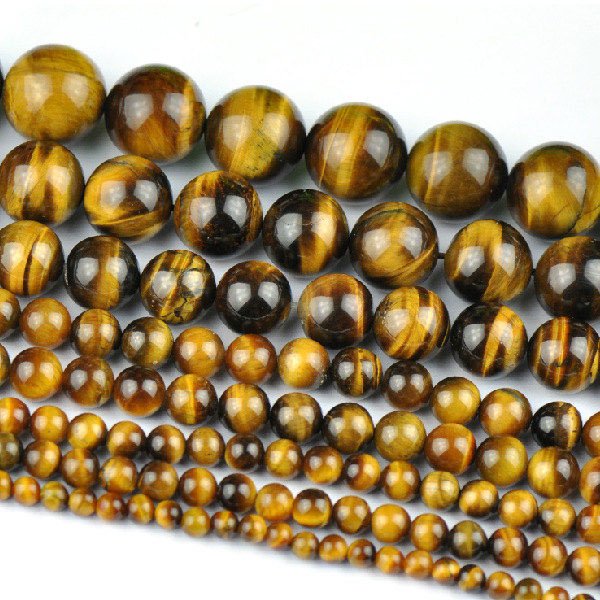 Tigers eye gemstone Beads 4mm 6mm 8mm 10mm 12mm Round 15 Inch