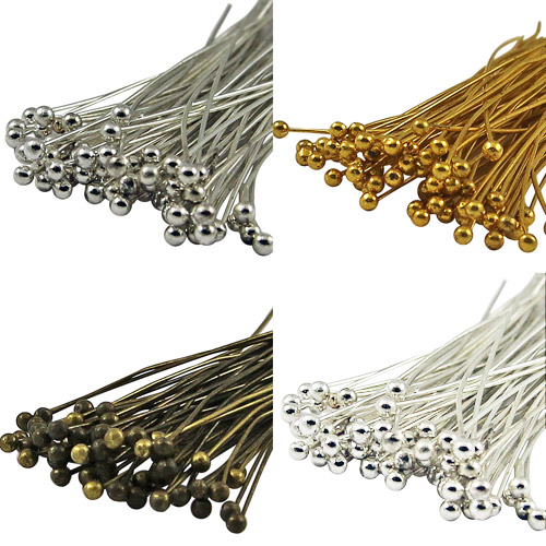 100Pcs Ballpins ball pin Metal Needles Findings for Jewelry Craft Findings
