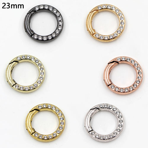1 Pcs 23mm Pave Spring Jump Rings For Bags Clasps,O Ring Connector Clasp,