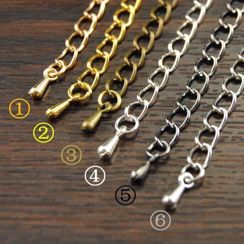 10pcs Chain Extended / Extension Jewelry Chains Tail Extender 50x3mm