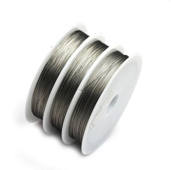 Tiger Tail,beading wire,stainless steel wire.0.45mm diameter.100 metres spool