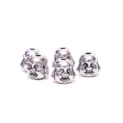 20Pcs 8x10MM Antique Silver Zinc Alloy Beads Buddha Beads, hole:2mm, Jewelry Findings