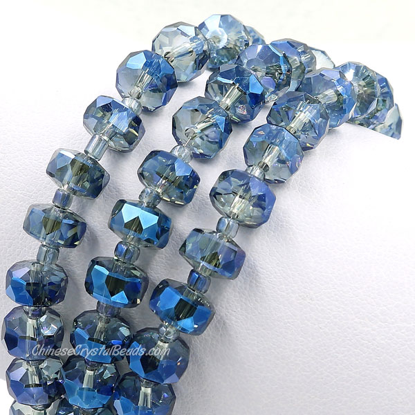 20Pcs Magic Blue 5x8mm angular crystal beads