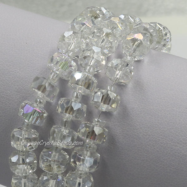 20Pcs Clear AB 5x8mm angular crystal beads