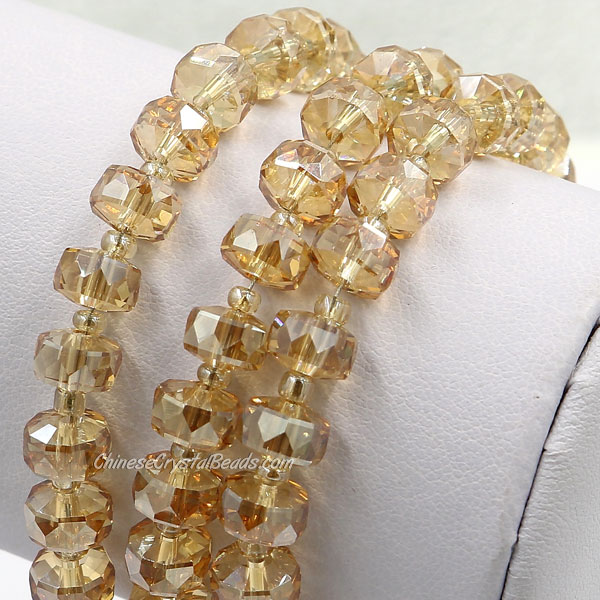 20Pcs golden shadow 5x8mm angular crystal beads