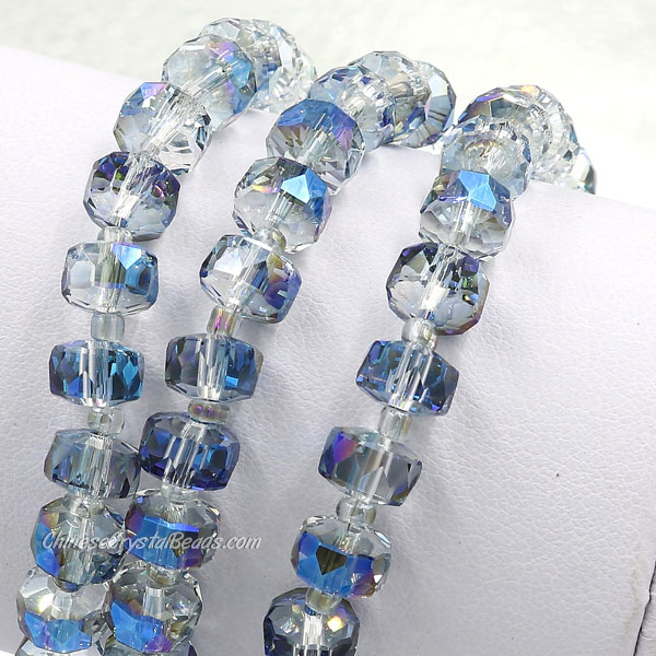 20Pcs half blue light 5x8mm angular crystal beads
