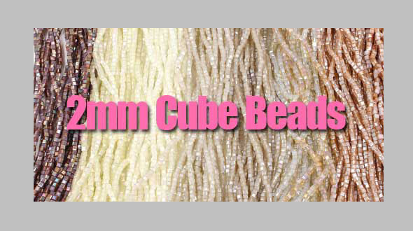 2mm mini cube crystal beads
